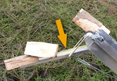 Holzrutschblech für Förderschiene